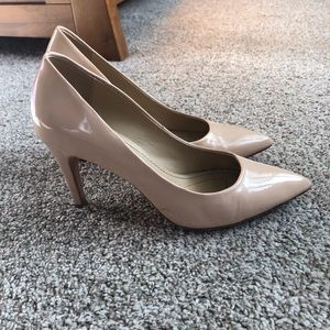 DVF Patent Leather Nude Heels